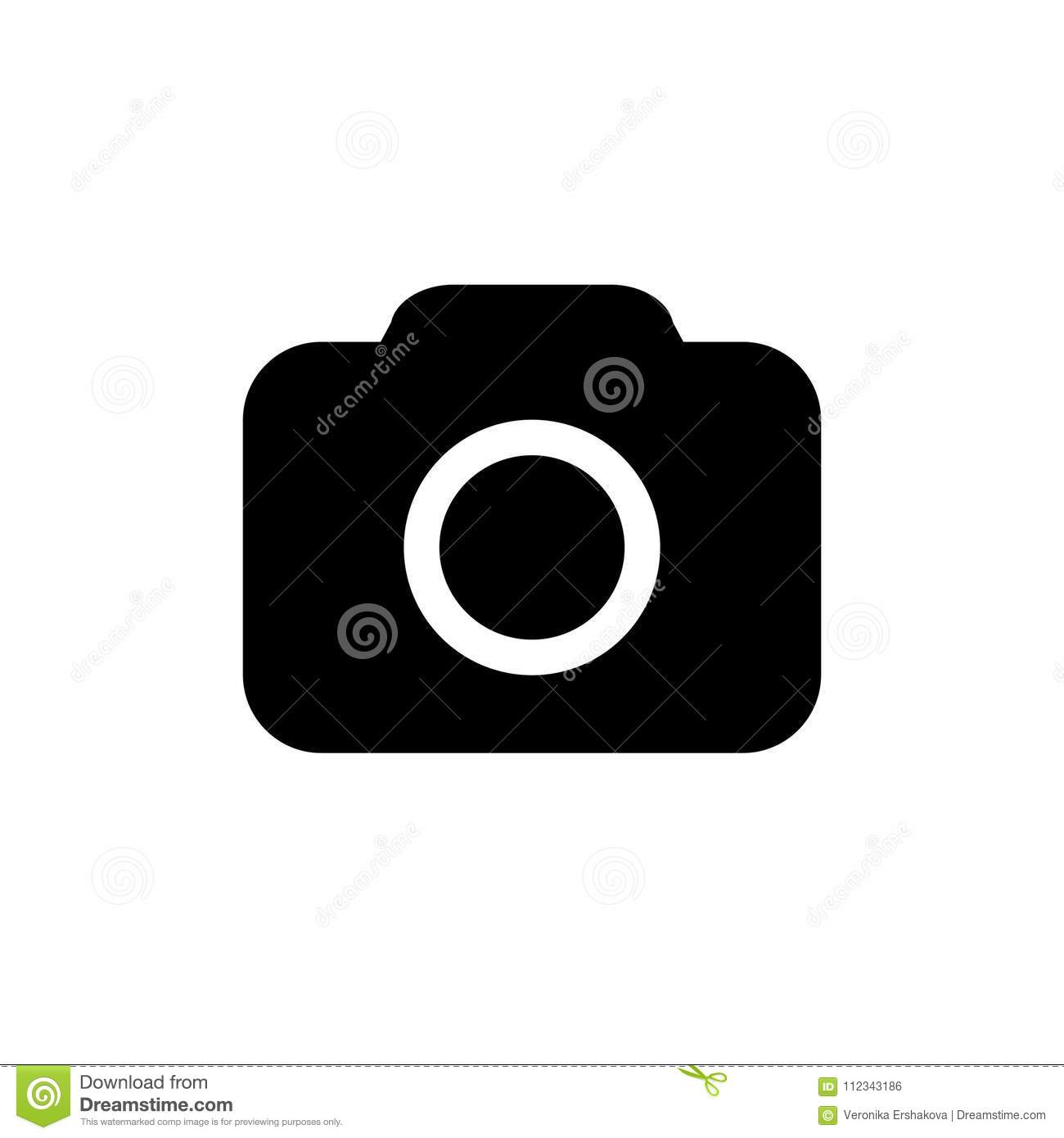 Camera Icon In Flat Style Stock Vector Illustration Of Focus