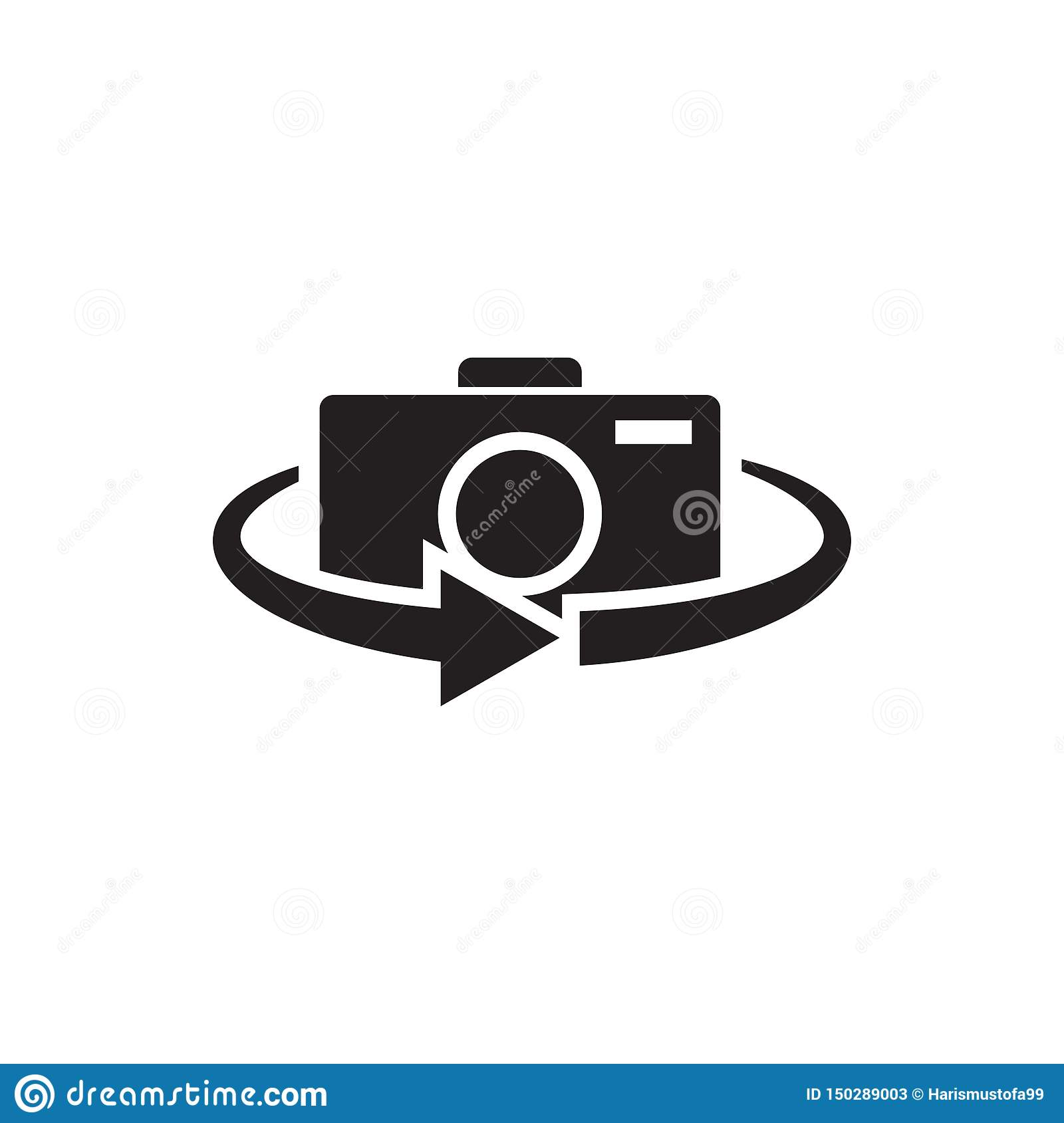 Camera 360 Icon Graphic Design Template Vector Stock Vector