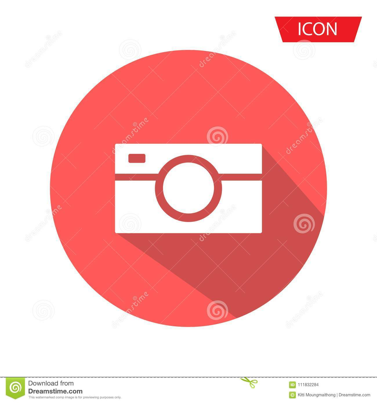Camera Icon in trendy flat style isolated on background