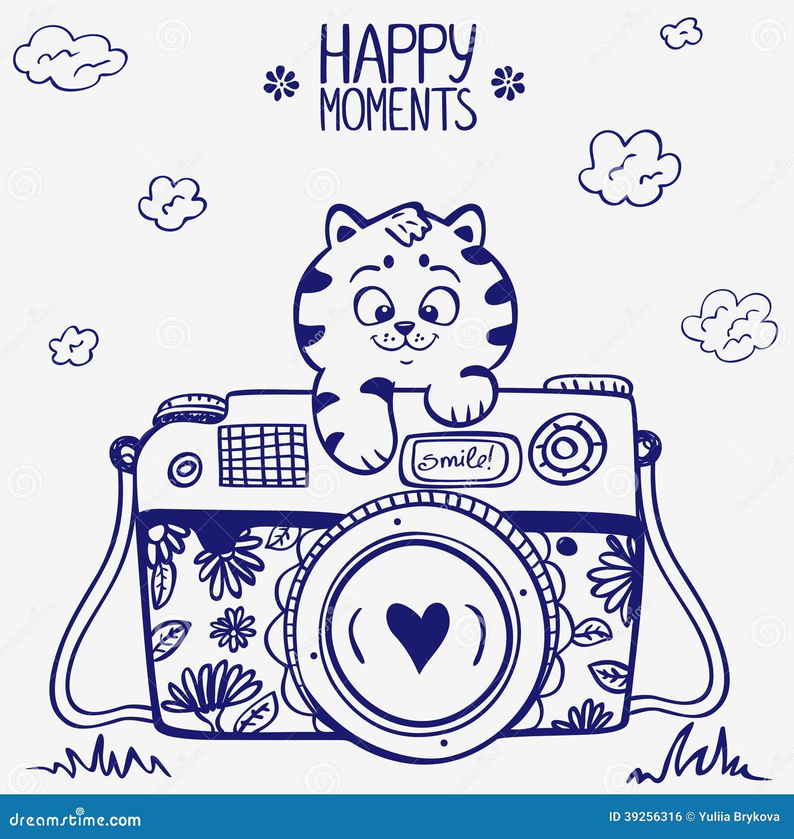 Camera Kitten Stock Illustration Image 39256316