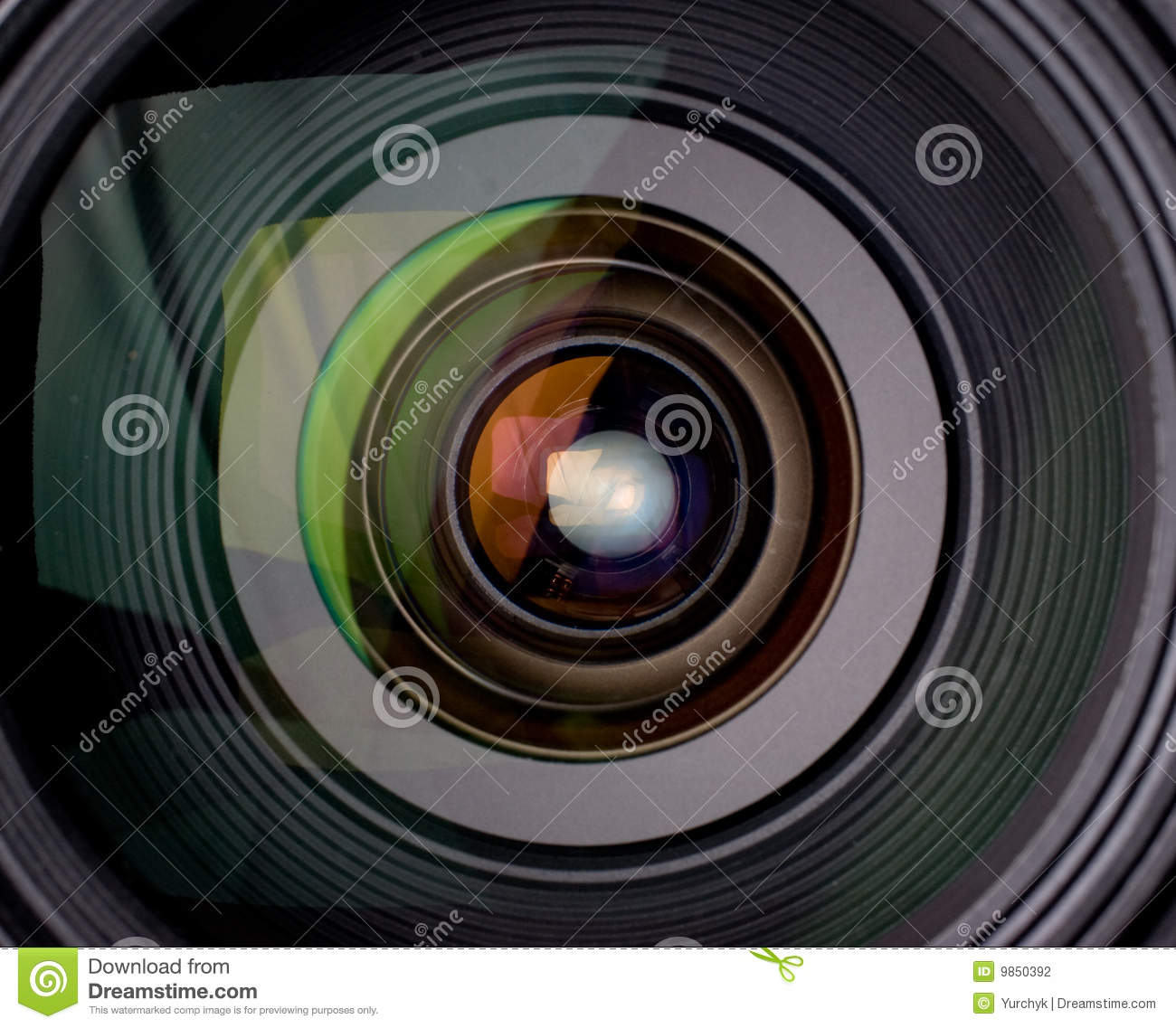 Camera Lens With Reflection Stock Photography - Image: 9850392 Video Camera Lens Reflection