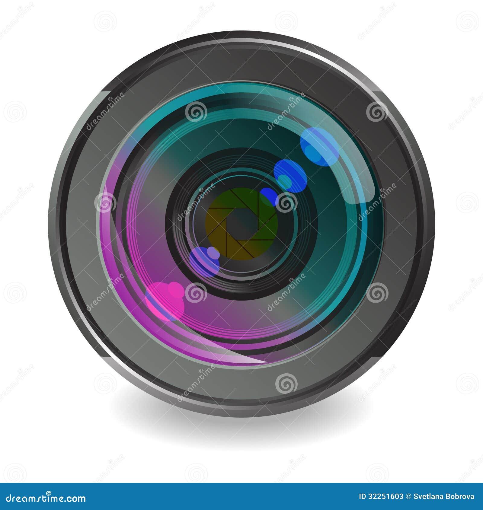 camera lens white background stock photos image 32251603