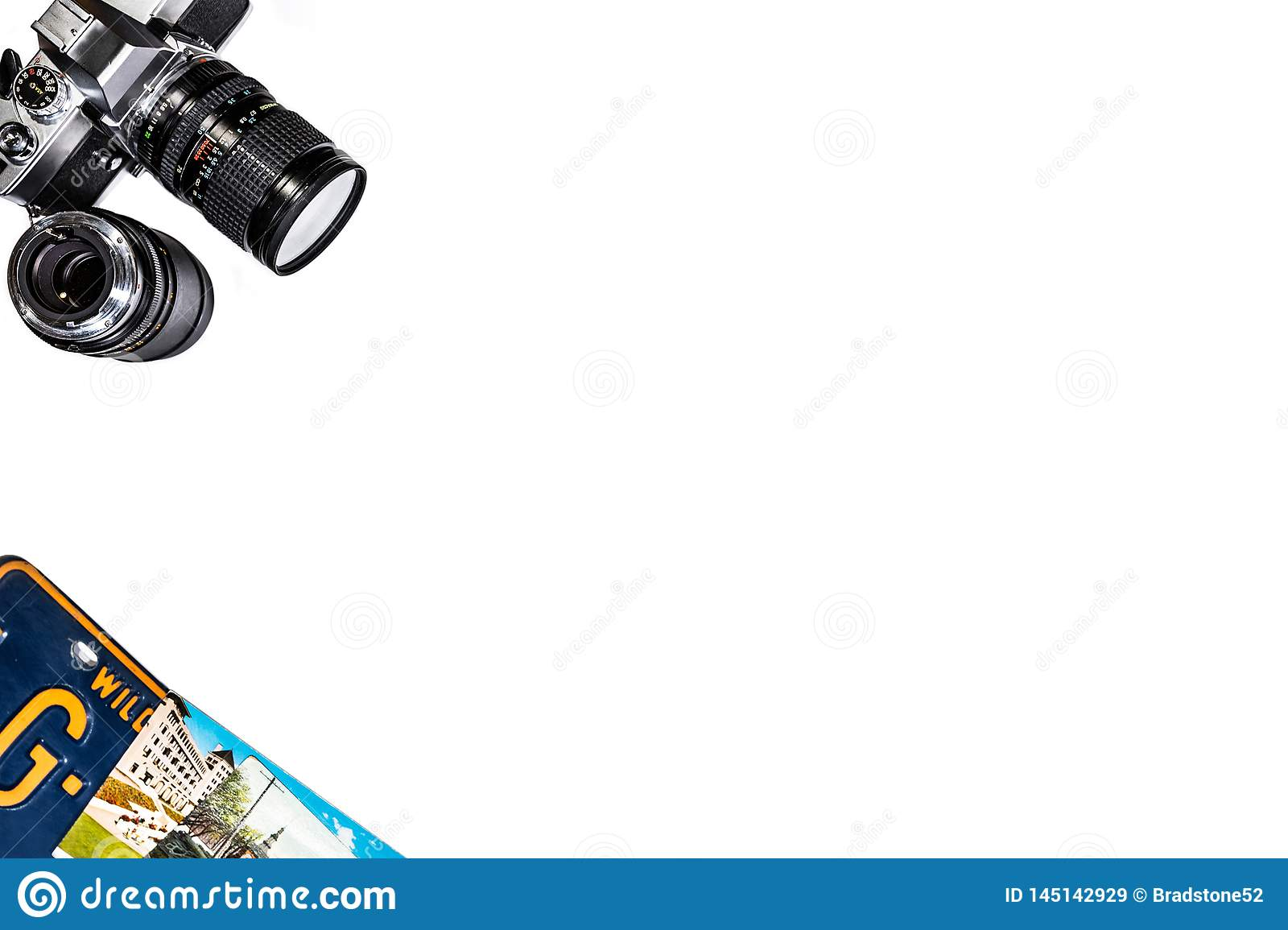 Camera License Plate Background on white