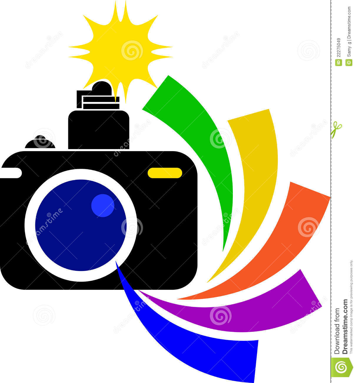 Camera logo stock vector. Illustration of body, cinema ...
