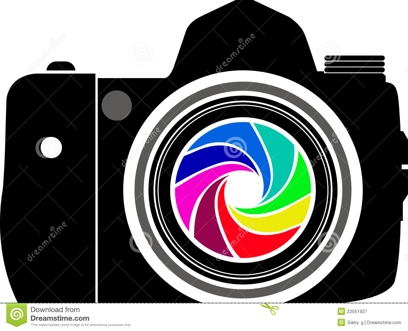 Camera logo stock vector. Image of clip, film, color ...