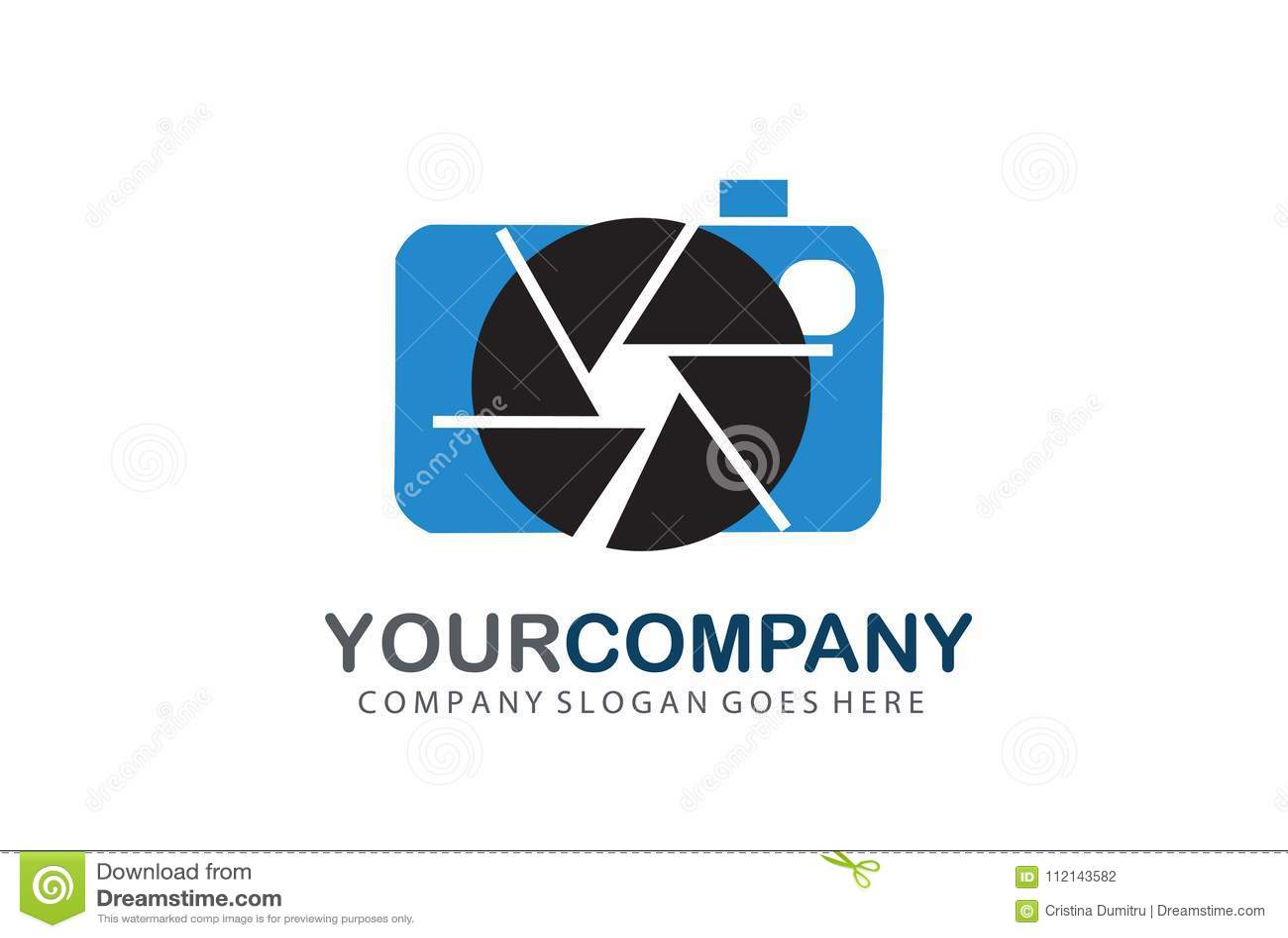 Camera logo aperture designotographer logo element stock vector camera logo aperture designotographer logo element pooptronica Images