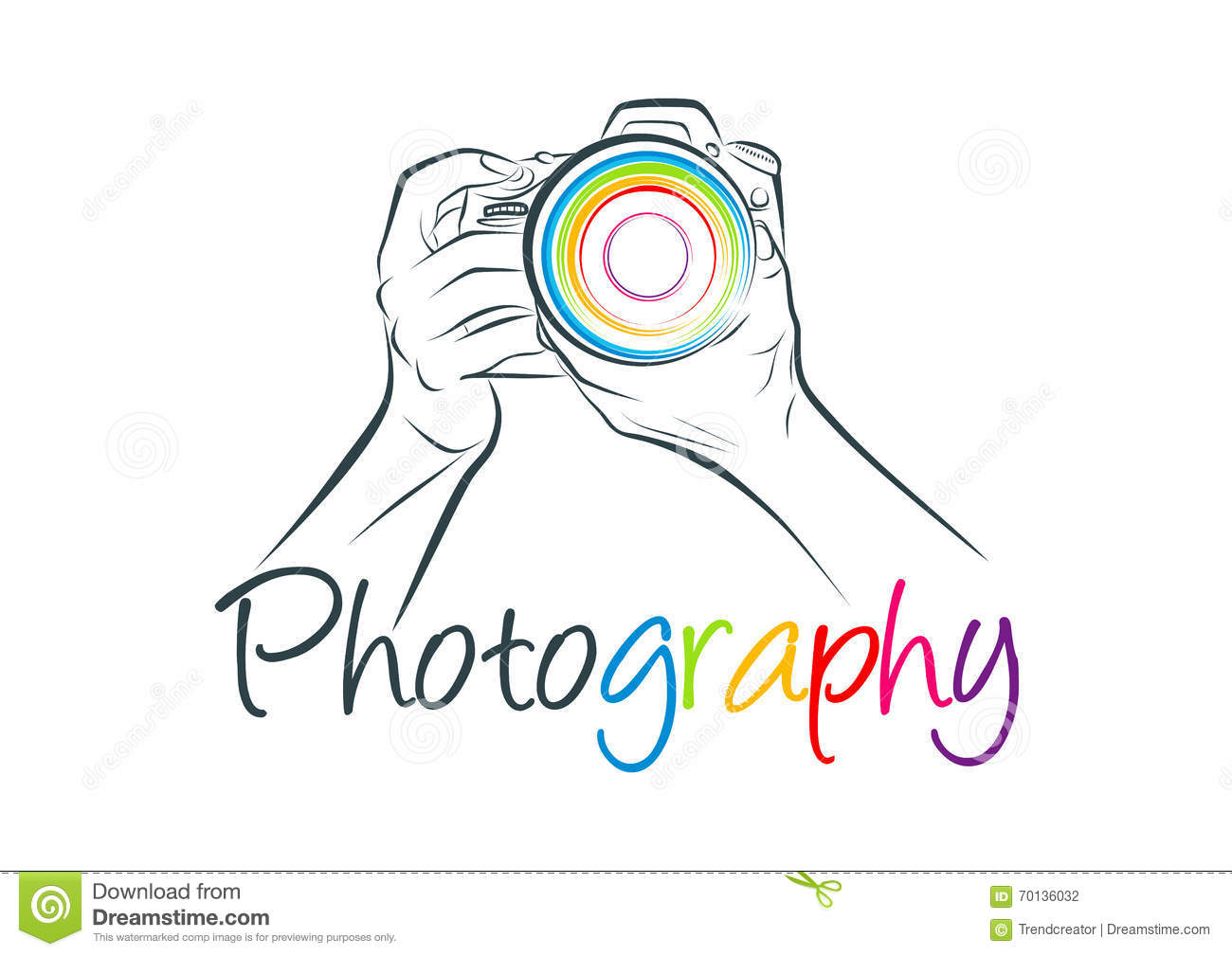An illustration represent camera logo and photography concept design ...