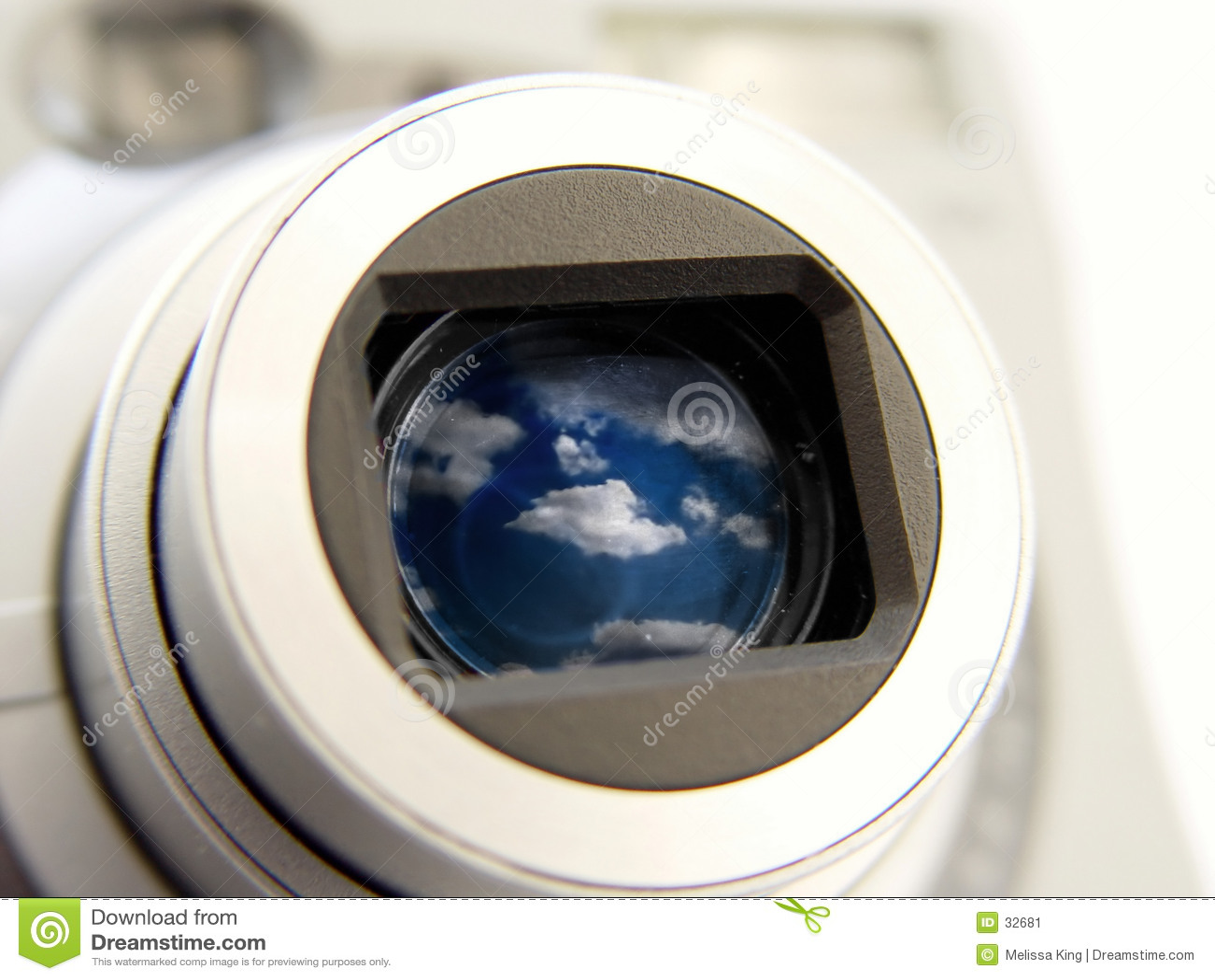 Camera met Wolken in Len