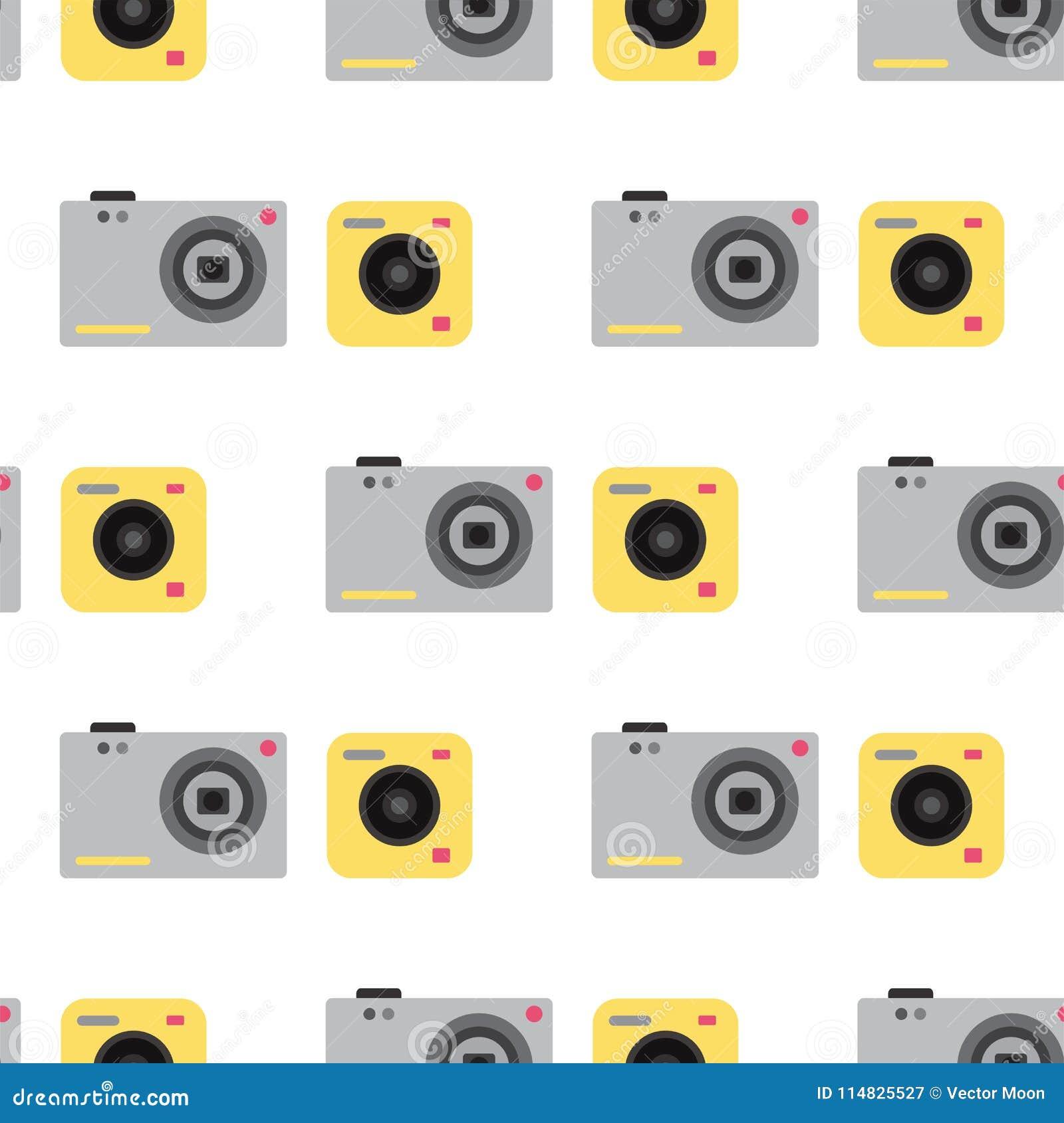 Camera Photo Vector Studio Flat Optic Lenses Types Objective