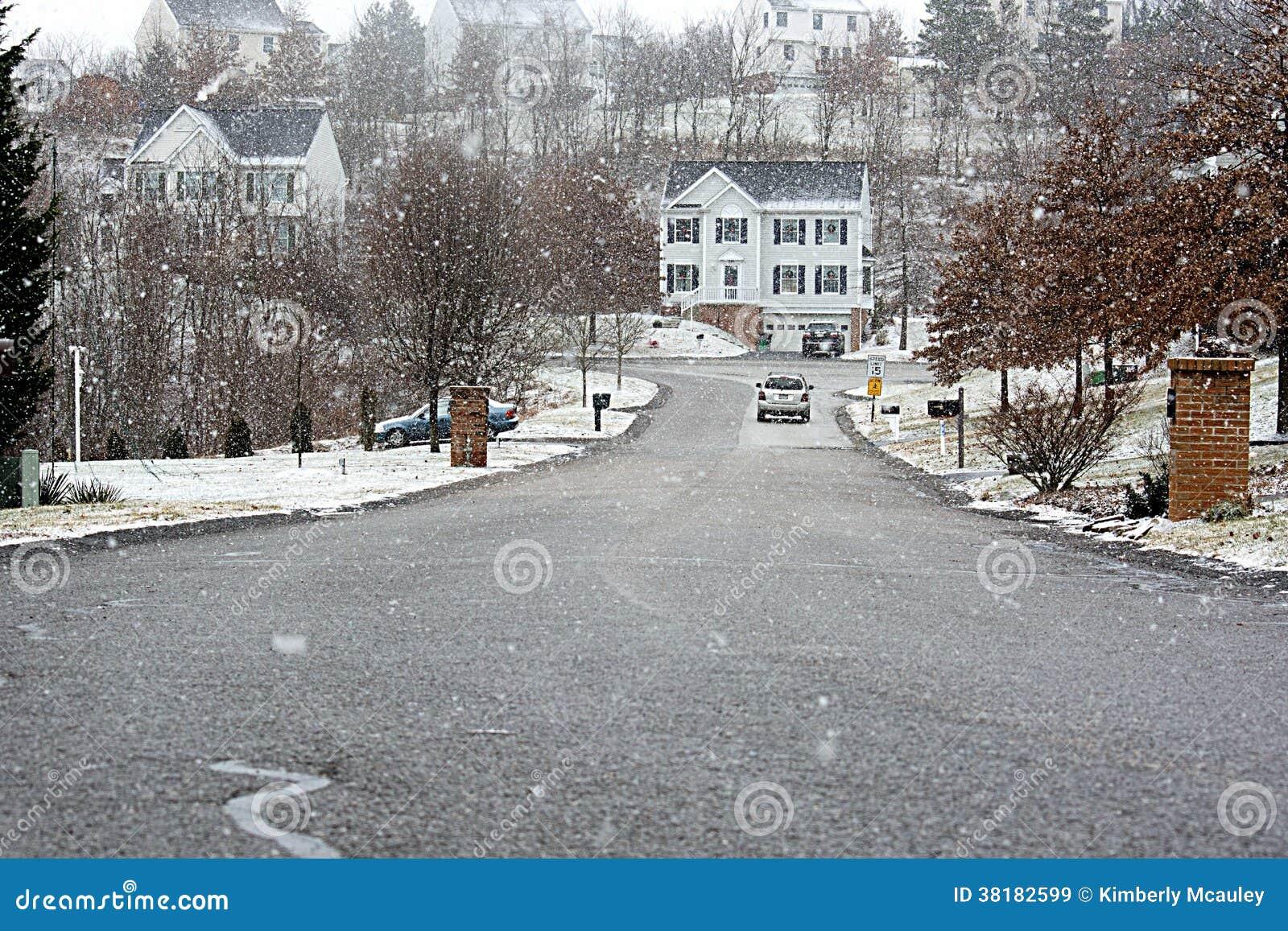 Camera in precipitazioni nevose