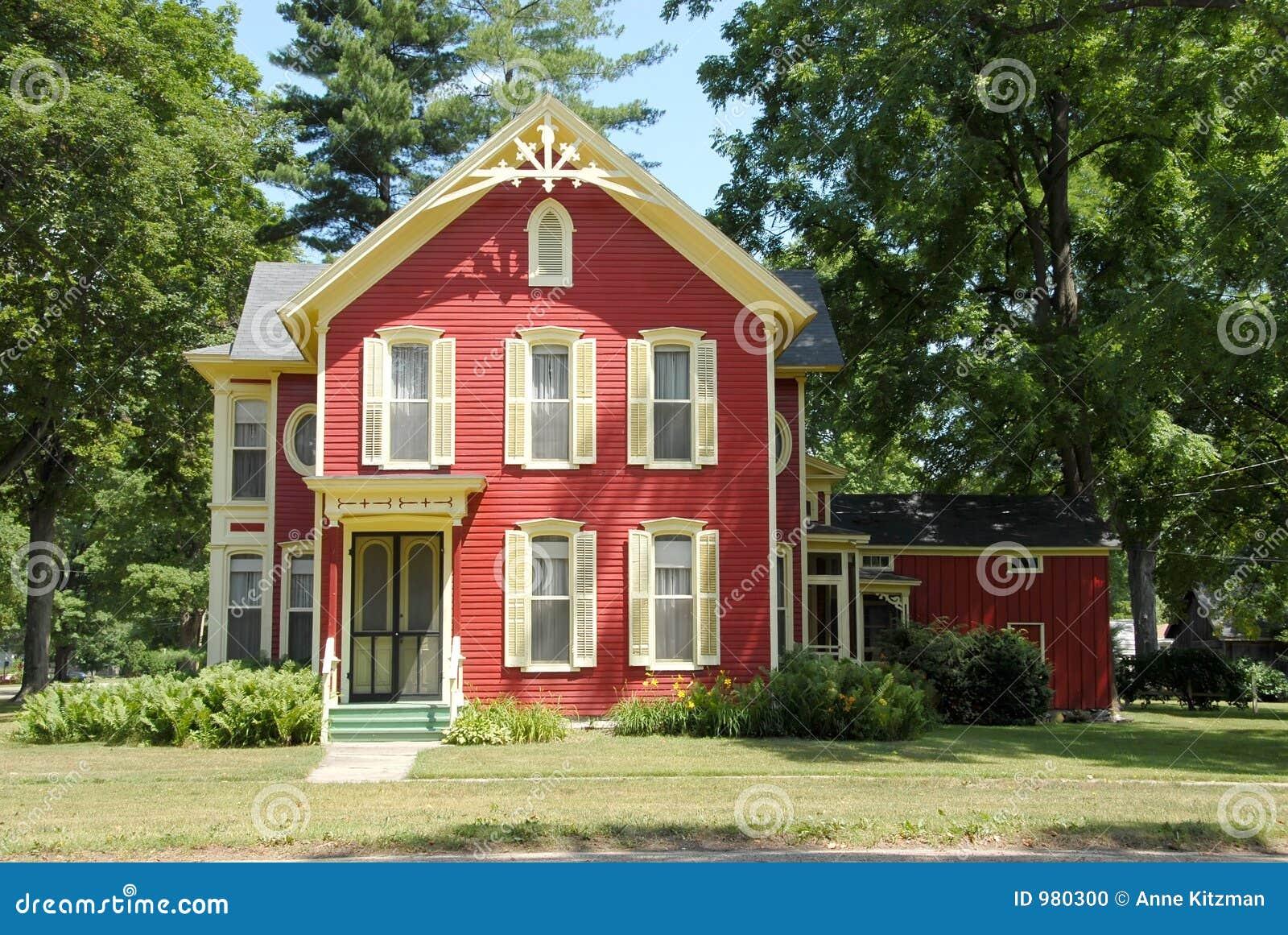 Camera rossa dell azienda agricola