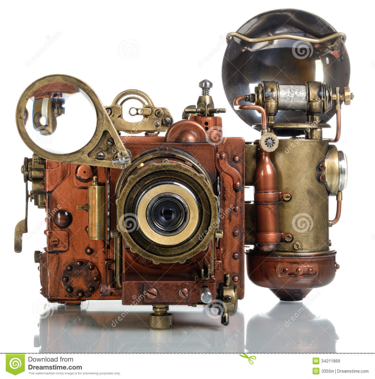 Camera Steampunk Royalty Free Stock Images Image 34211869