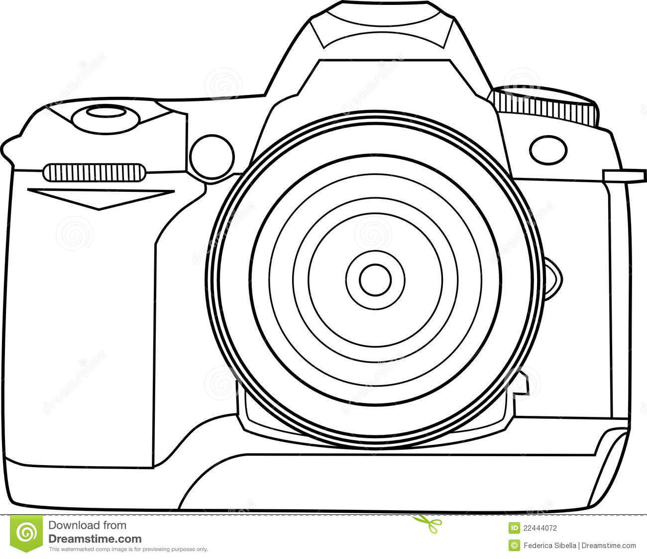 Line Drawing Camera : Camera vector outline stock illustration of