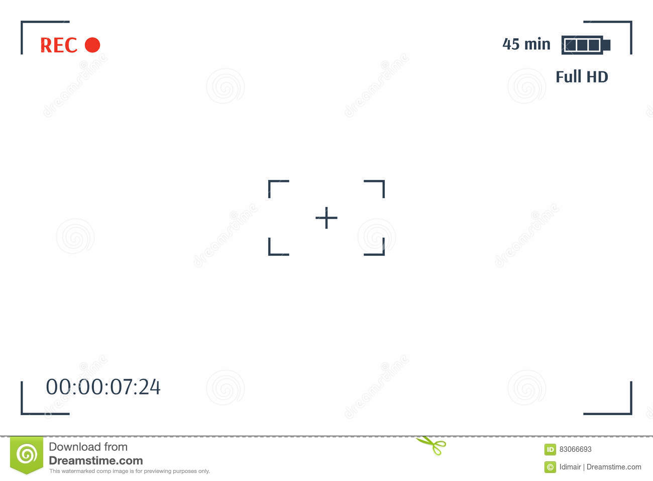 Time Recording Template.Camera Viewfinder Template Focusing Screen ...