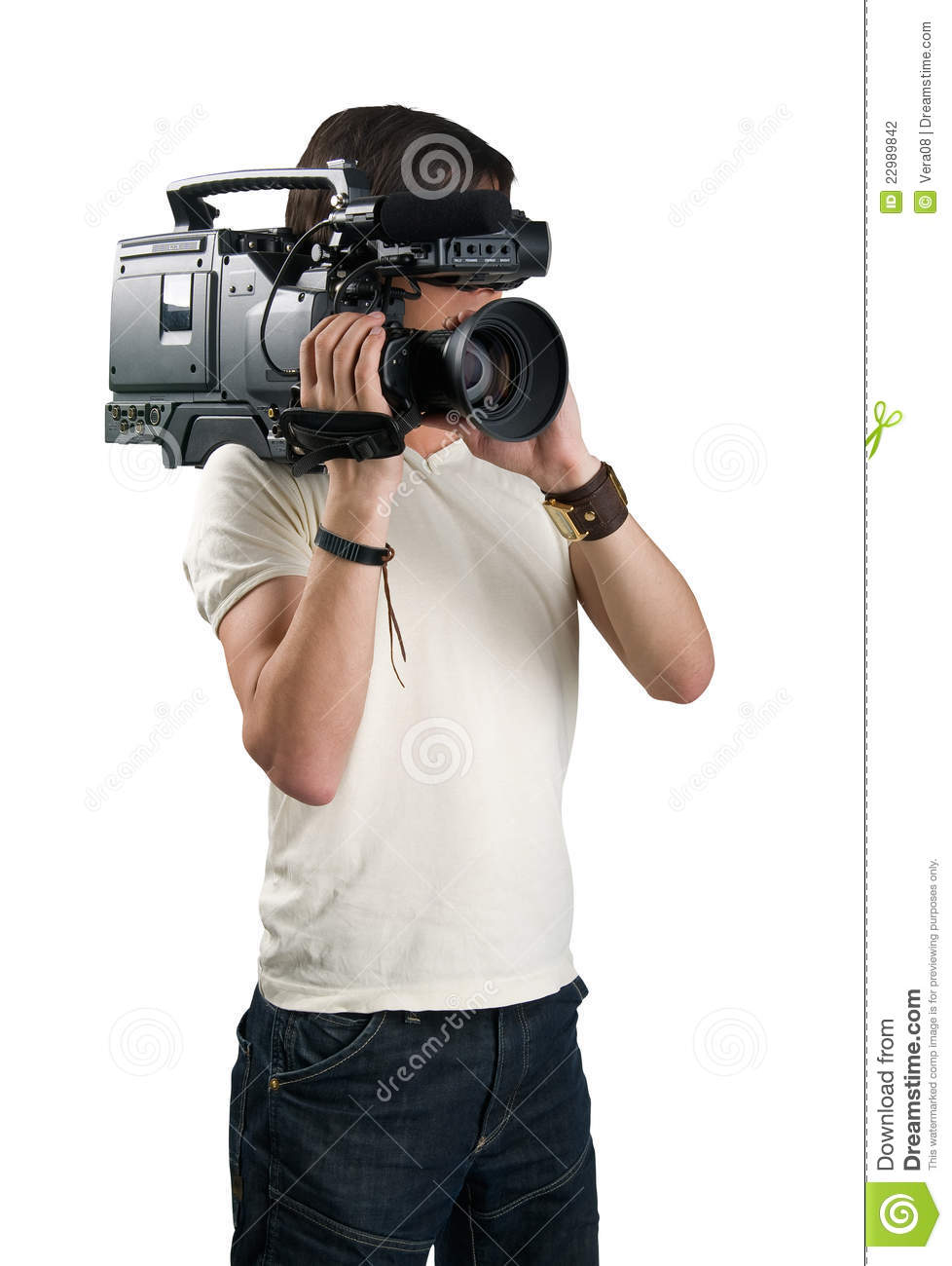 Cameraman  stock photo  Image of modern, digital, background