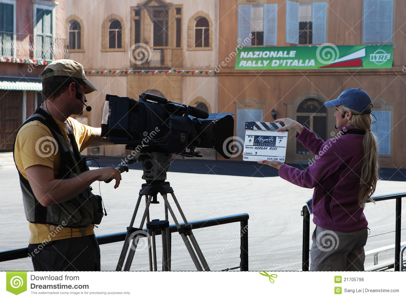 Cameraman making movies editorial stock photo  Image of shooting