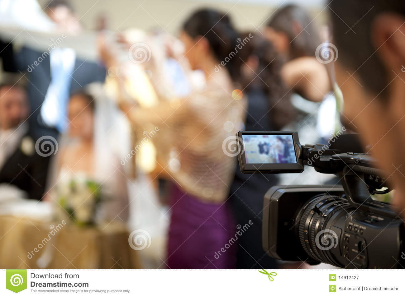 cameraman and marriage royalty free stock photography With wedding cameraman