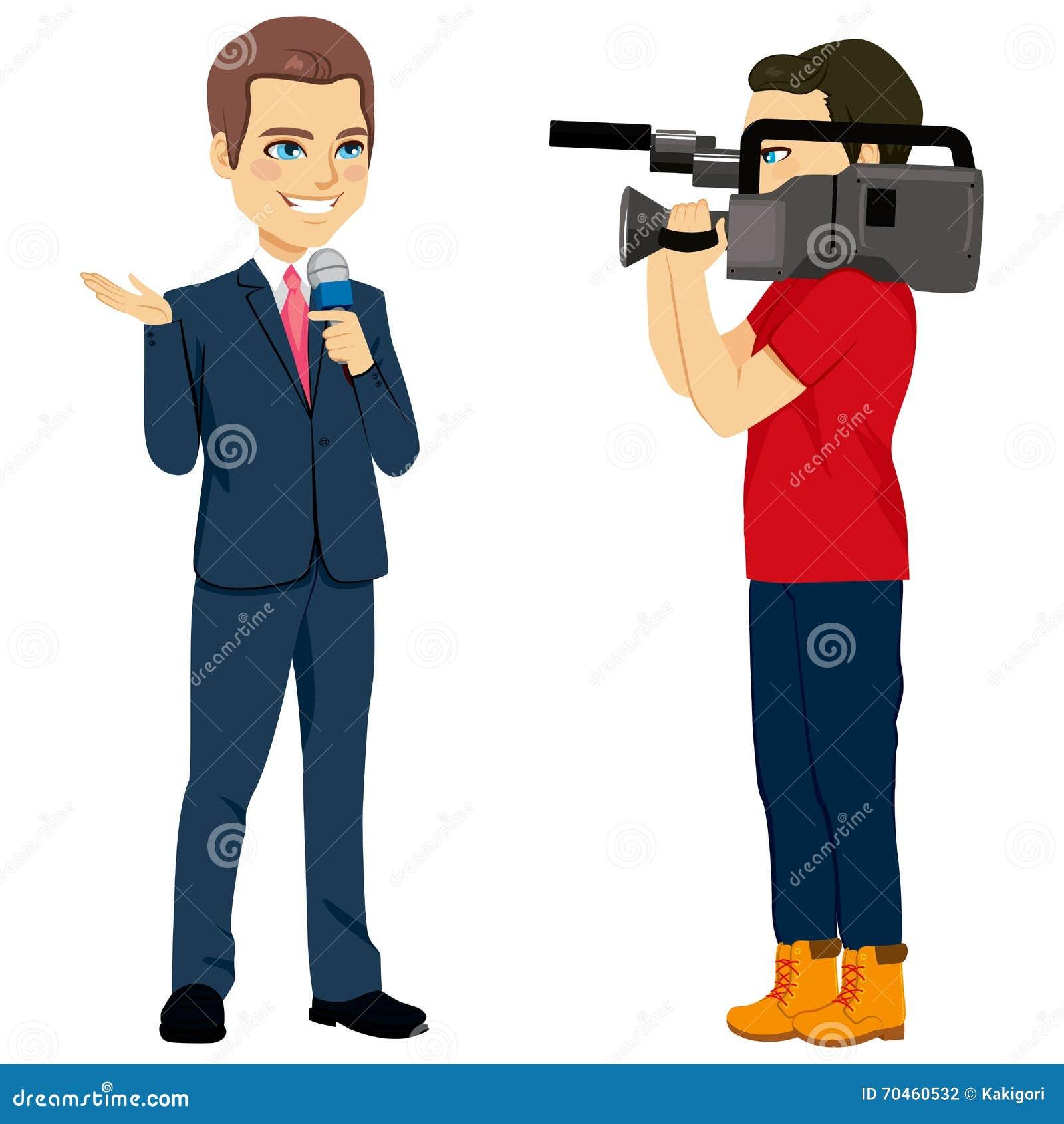 cameraman and reporter stock vector image 70460532 clip art microphones old clip art microphone and speaker