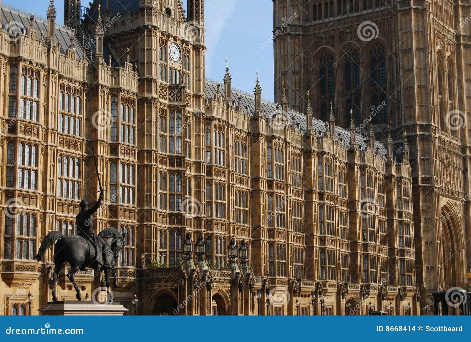 Camere del parlamento londra fotografia stock immagine for Camere parlamento