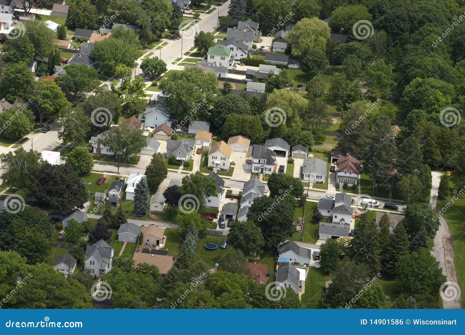 Camere della vicinanza di vista aerea, case, residenze