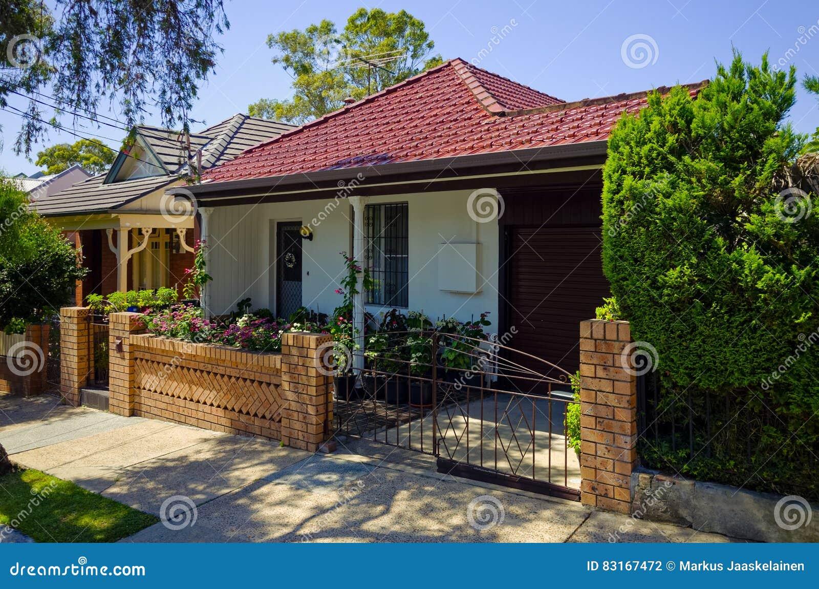 Case Tipiche Australiane : Camere urbane sydney australia fotografia stock immagine di