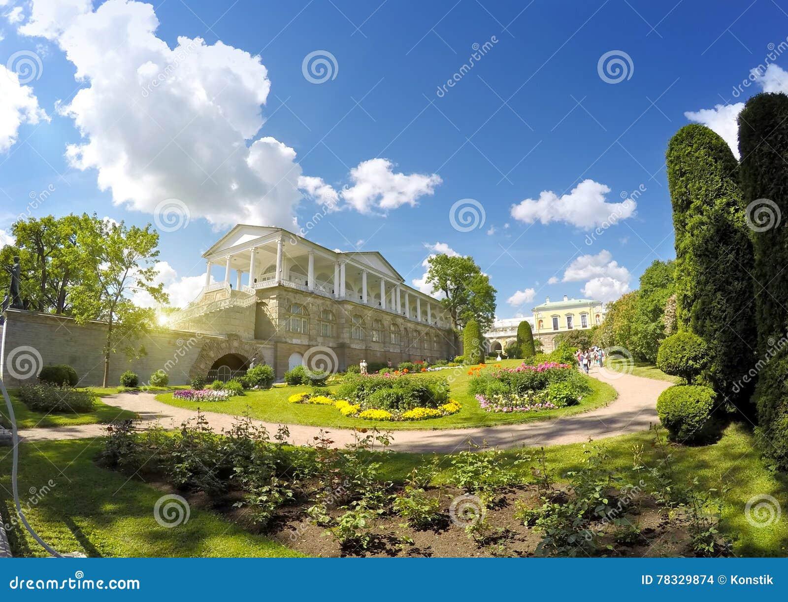 Cameron Gallery 24 för petersburg för park för nobility för km för catherine besök för tsarskoye för st för center familj tidigar
