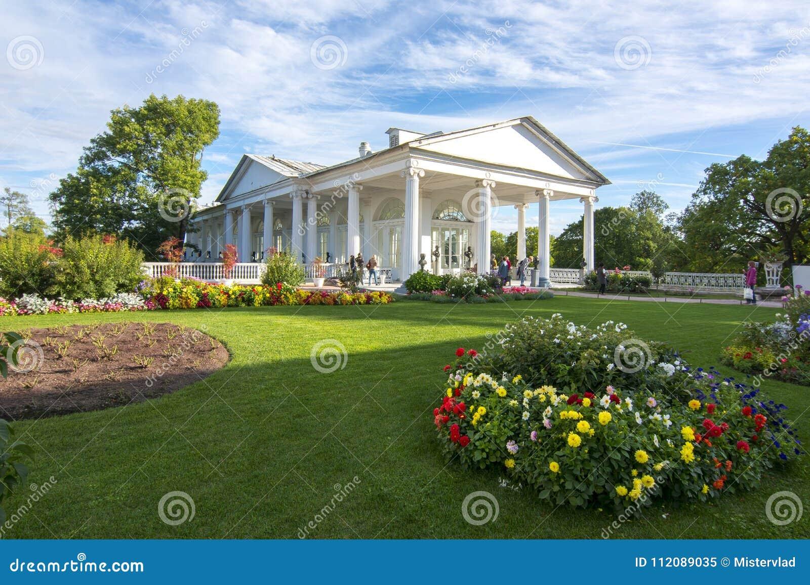 Cameron Gallery no parque de Catherine, Tsarskoe Selo, St Petersburg, Rússia