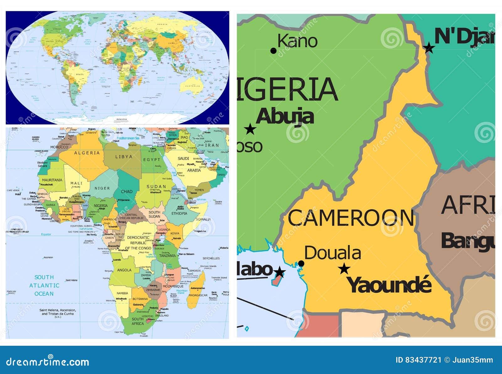 Cameroon & World stock illustration. Illustration of africa ...