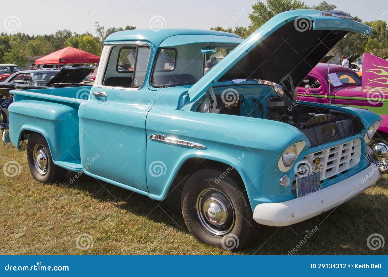 Vintage, camión chevy azul ilustración del vector. Ilustración de ...