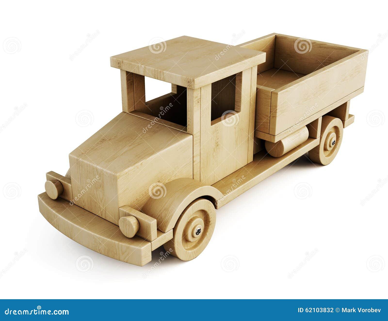 Cami n de madera del juguete aislado en el fondo blanco 3d - Jugueteros de madera ...
