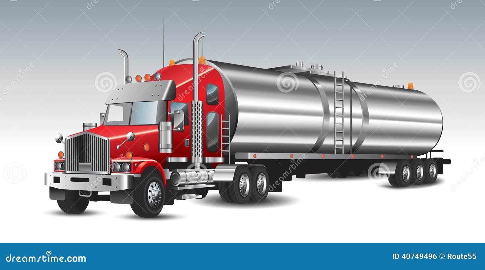Cami 243 N De Petrolero Del Combustible Ilustraci 243 N Del Vector