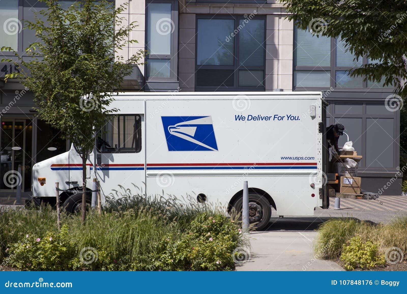 Camión de reparto del correo de los E.E.U.U.