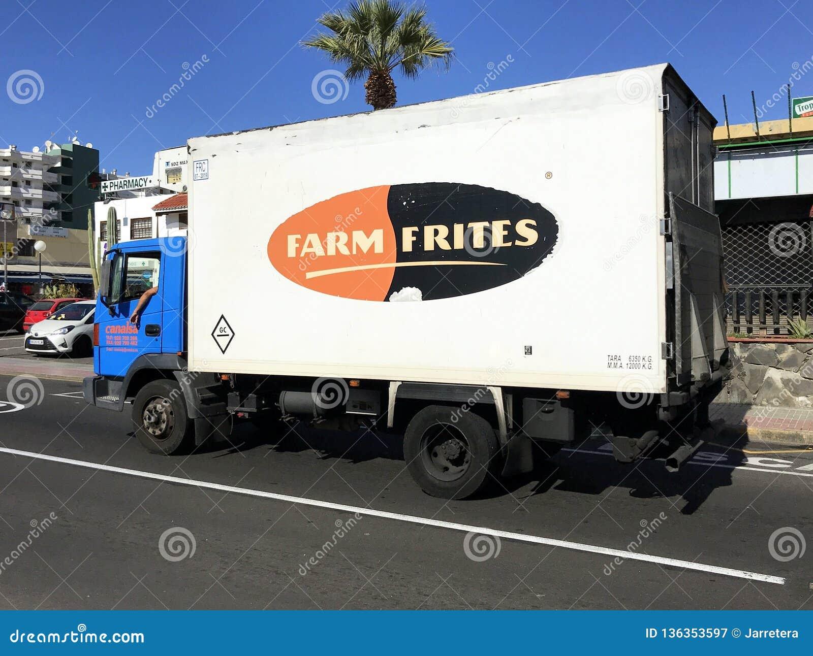 Camión de reparto de Frites de la granja