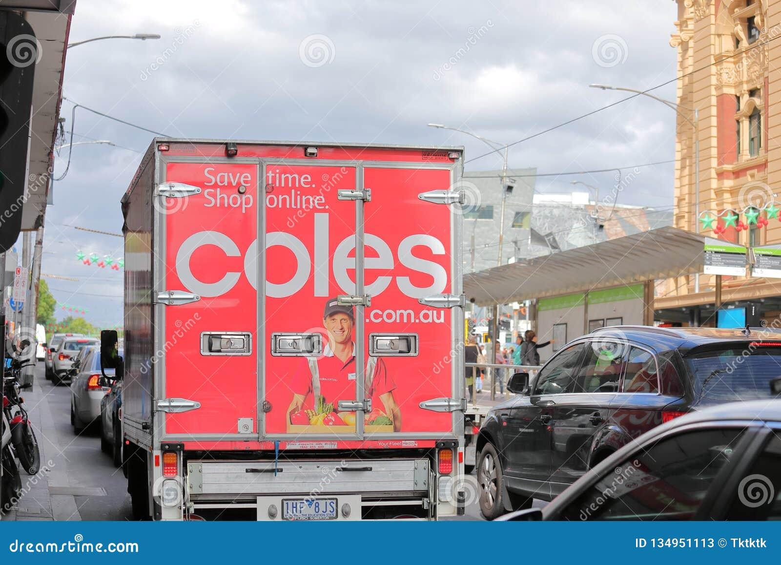 Camión de reparto Melbourne Australia del supermercado