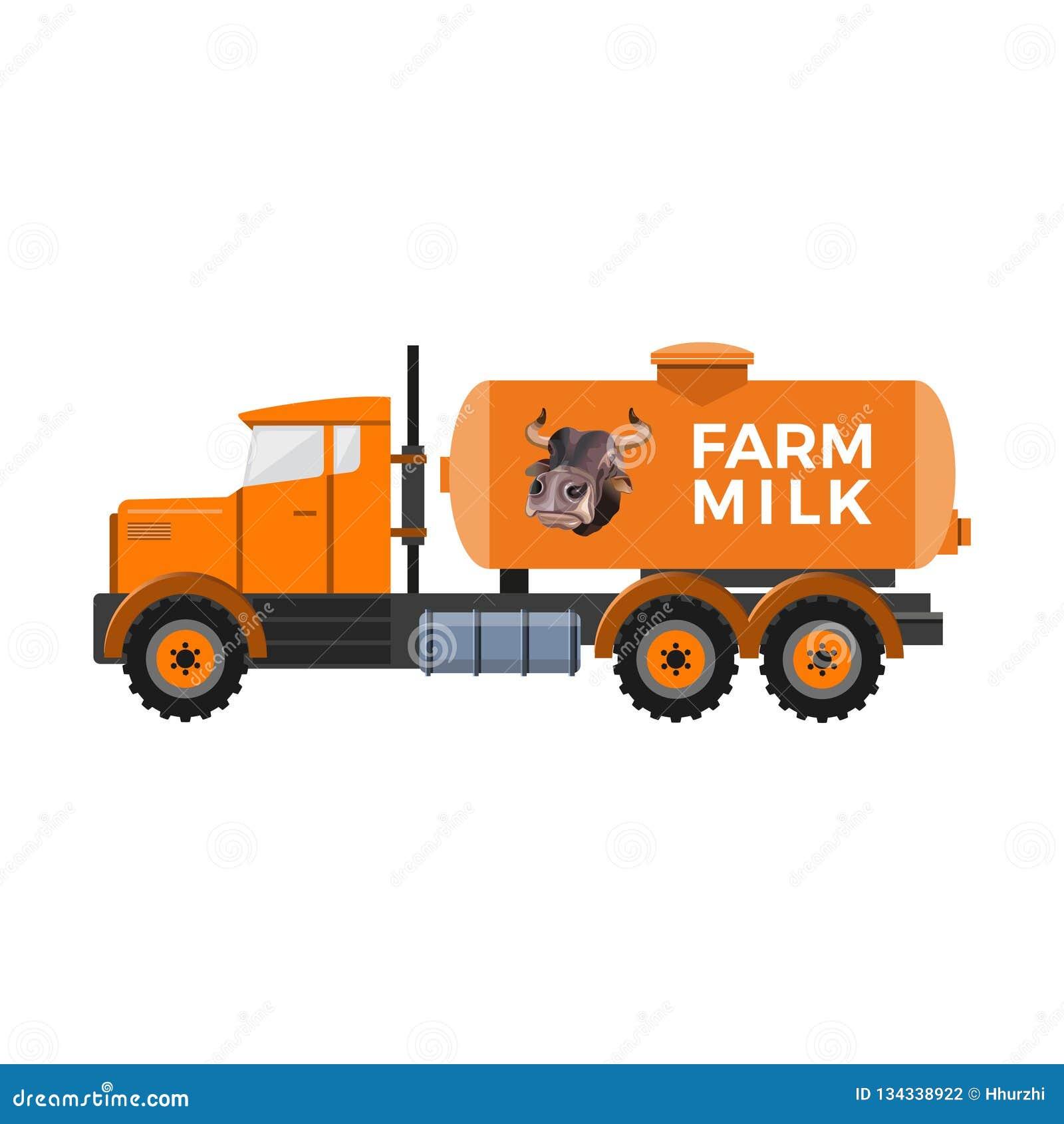 Camión del depósito de leche