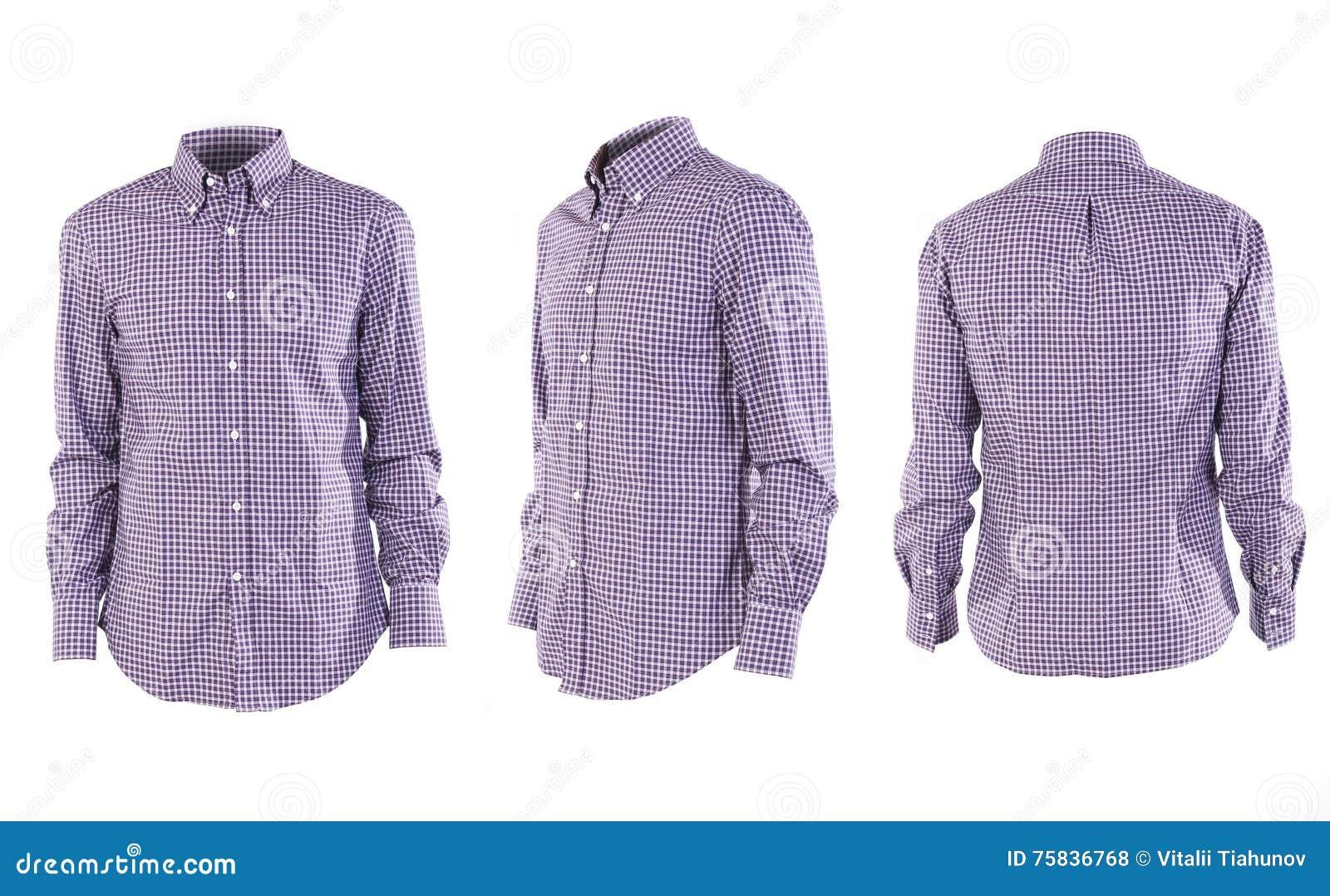 Camicia degli uomini su bianco