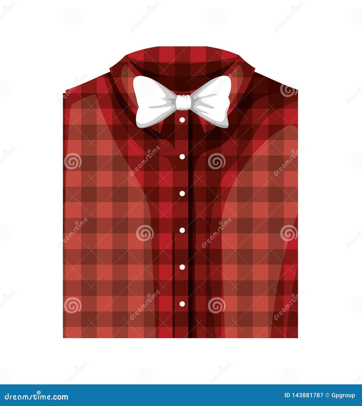 Camicia elegante piegata con la cravatta a farfalla