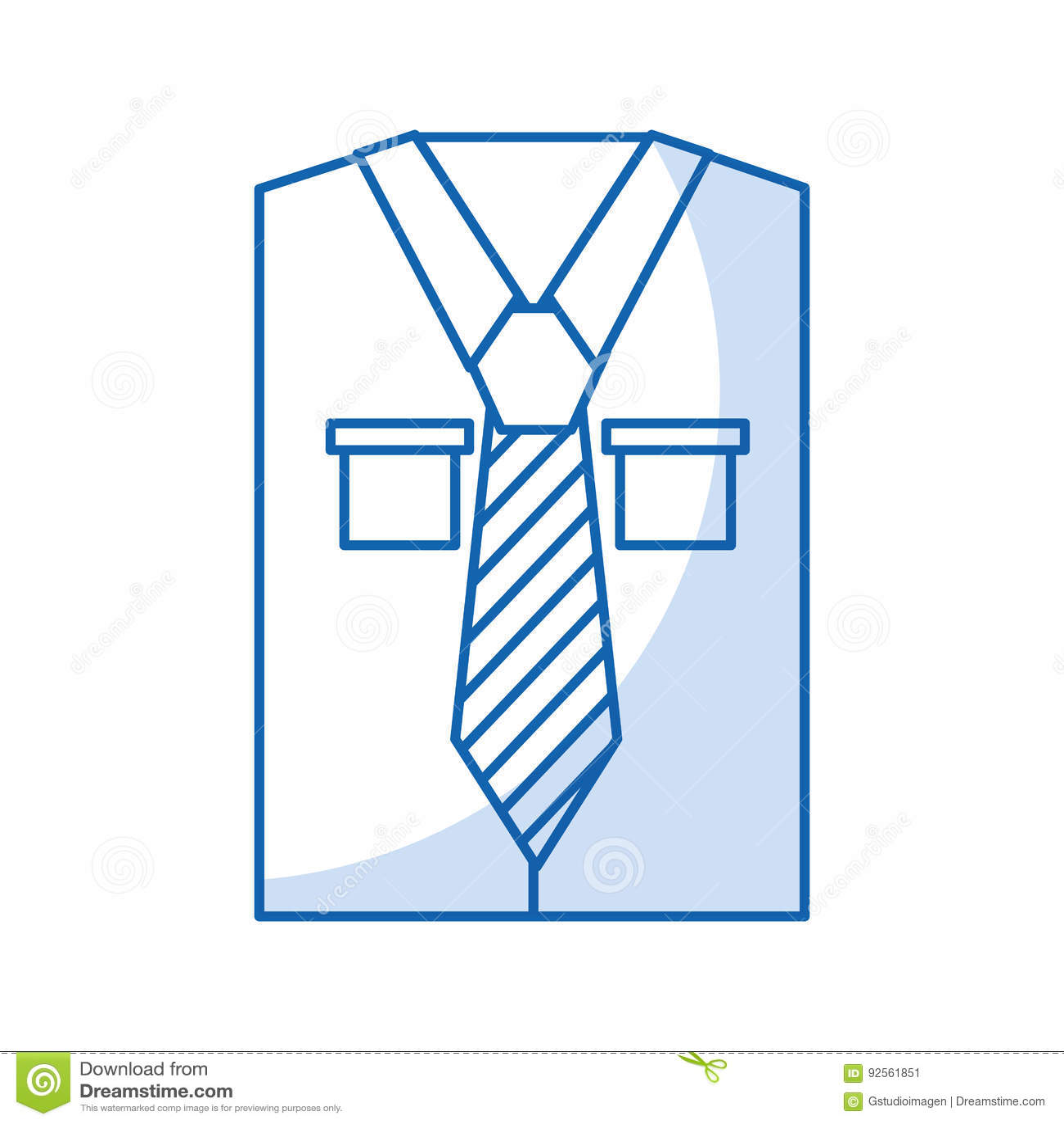 Camicia a maniche lunghe del ` s degli uomini con il legame