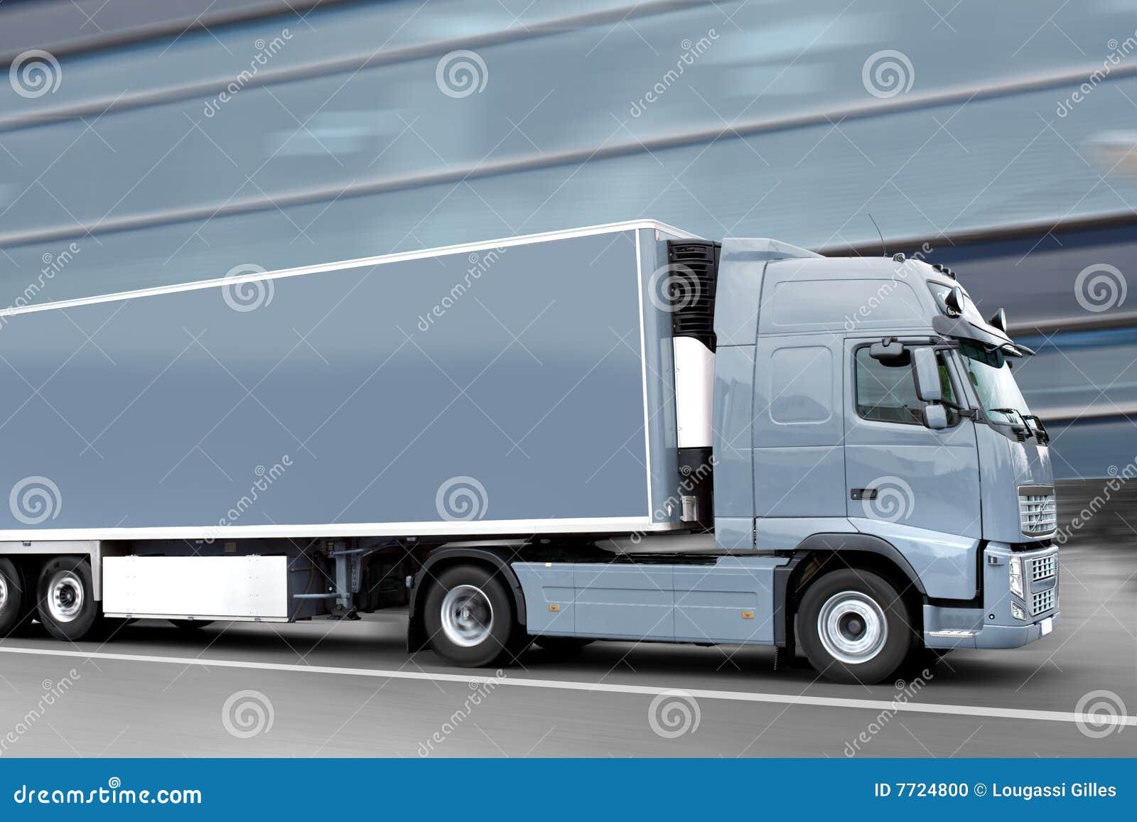 Caminhão cinzento