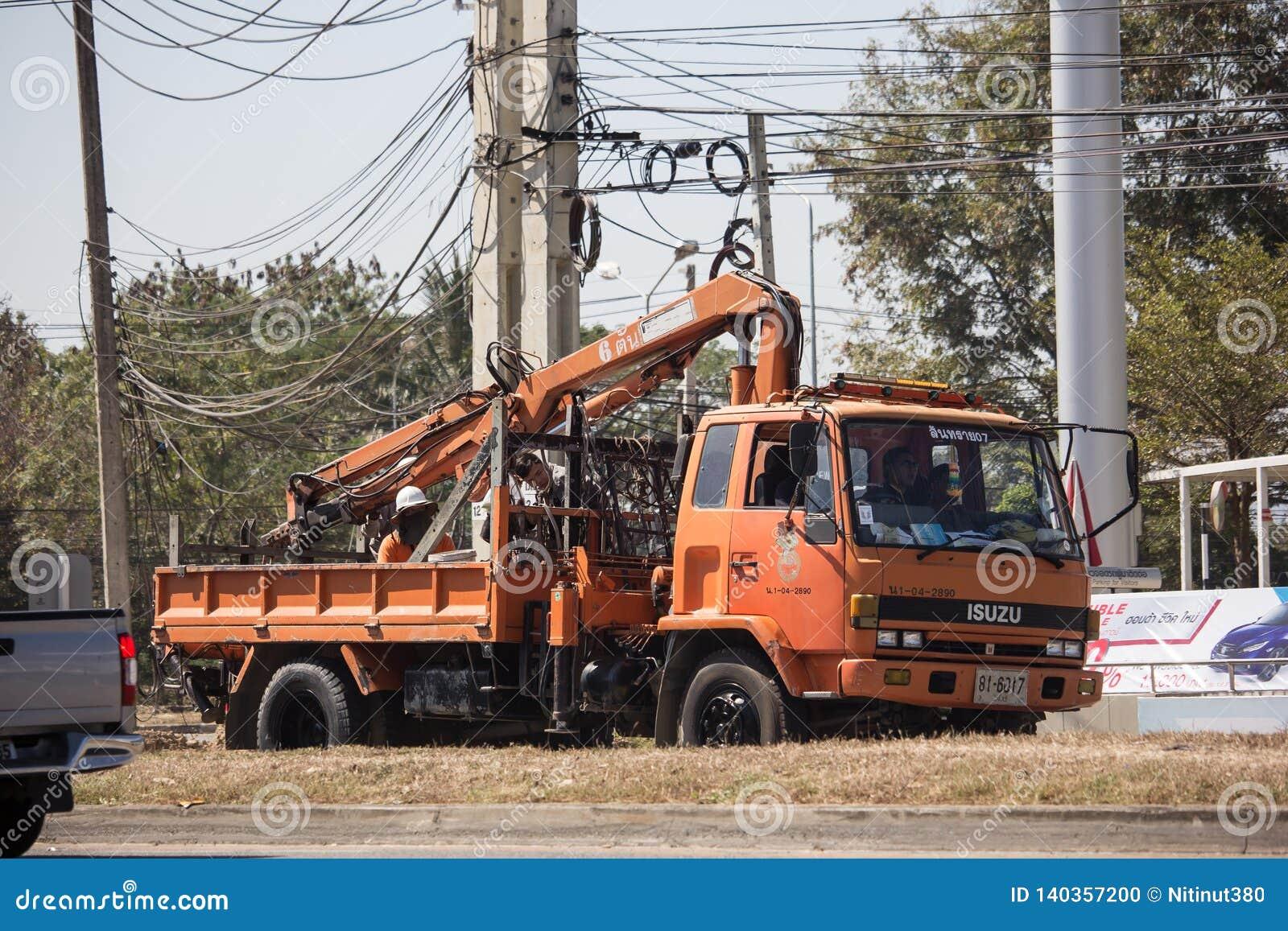 Caminhão da autoridade provincial do eletricity de Tailândia