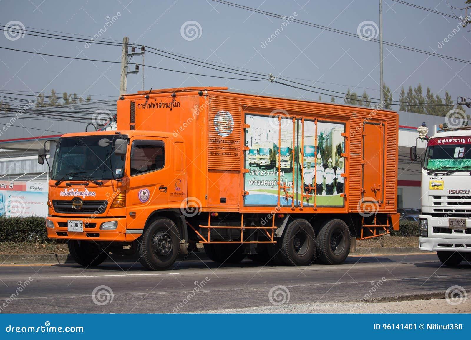 Caminhão da autoridade provincial do eletricity de Thailands