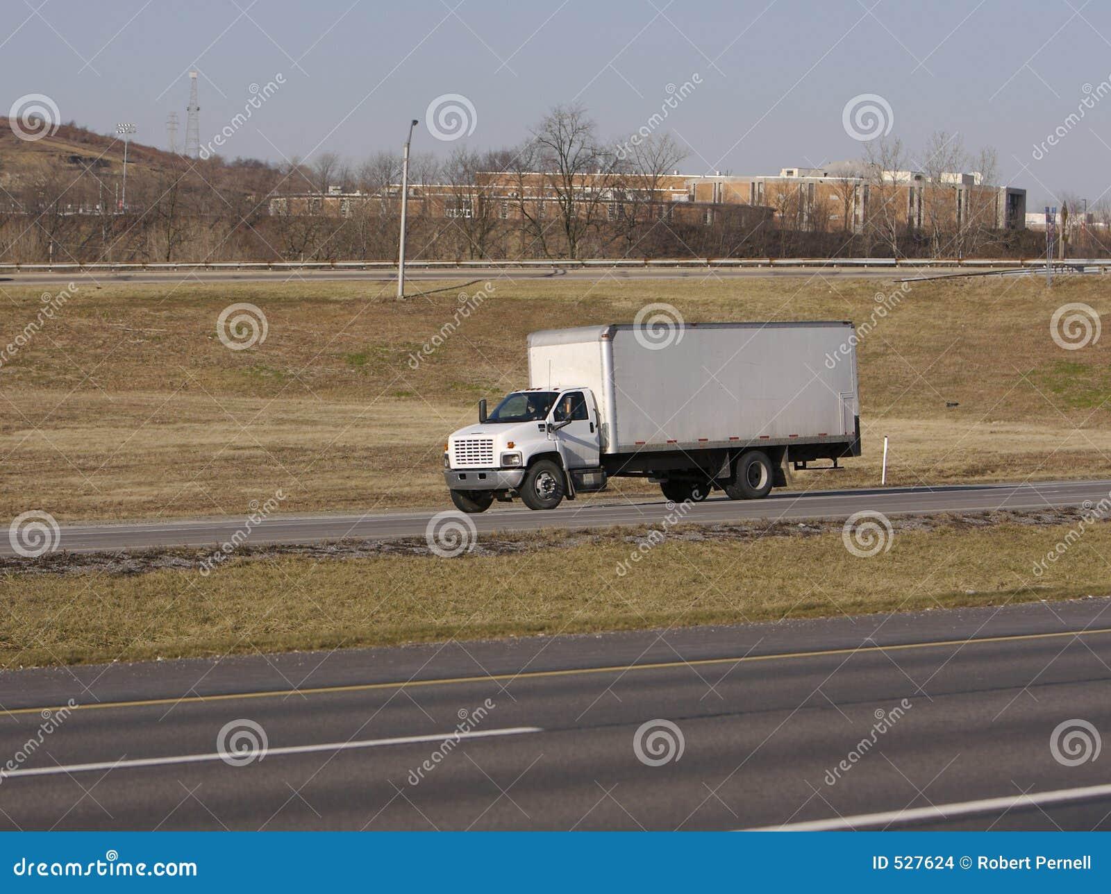 Caminhão da caixa branca