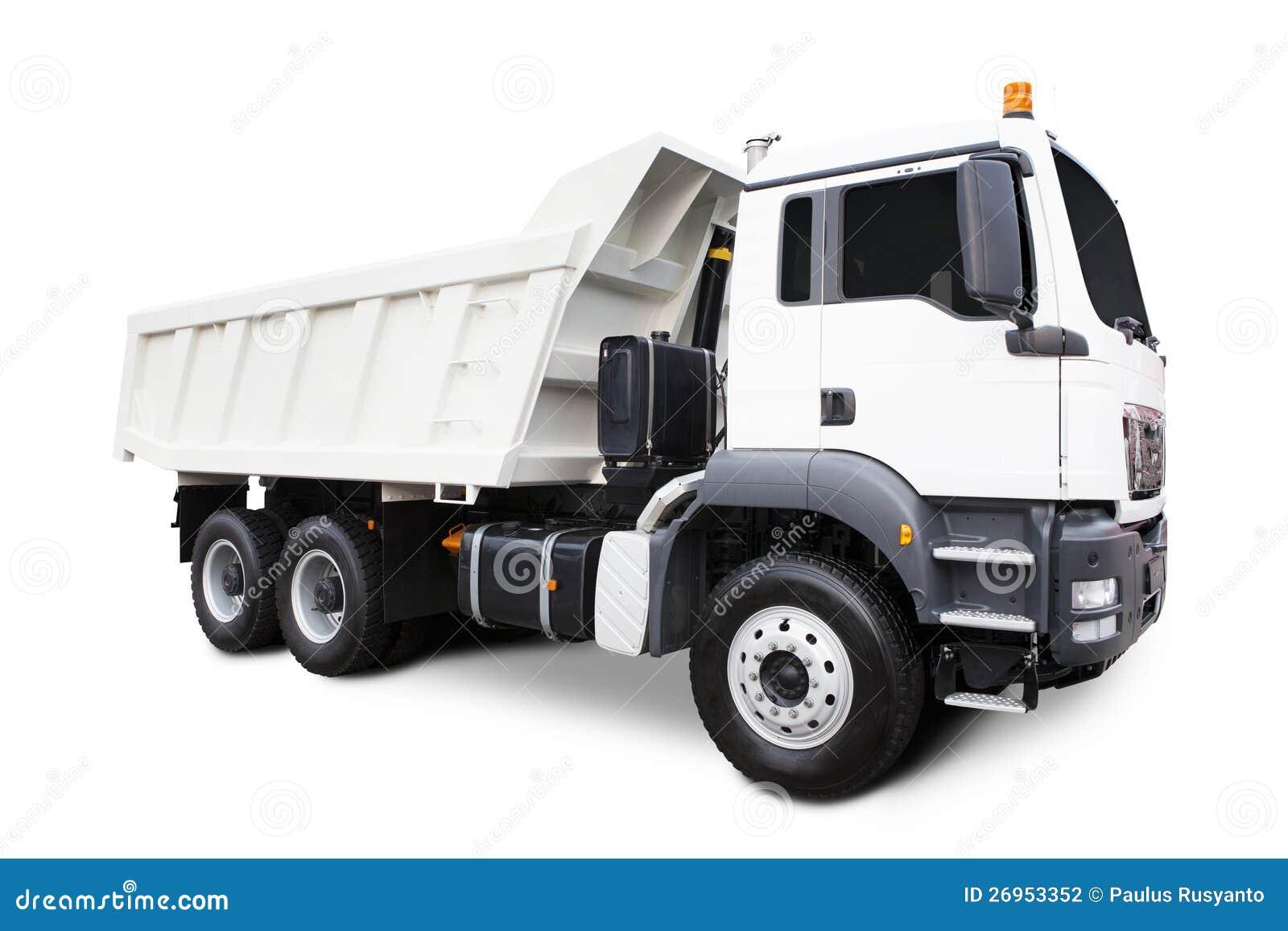 Caminhão de descarga branco