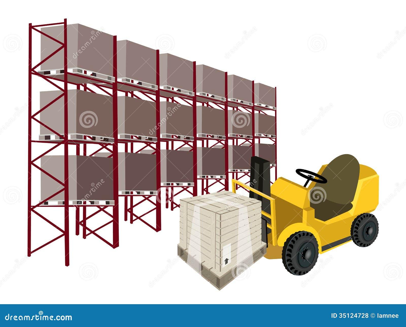 de elevador pesado que carrega uma caixa da caixa de madeira ou da #C29A09 1300x1065
