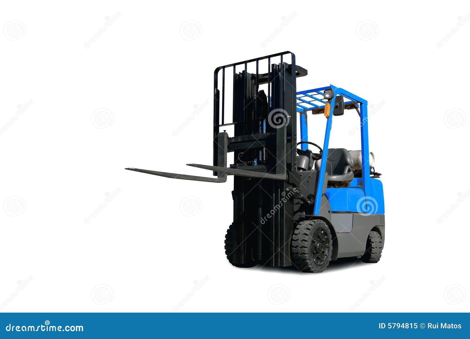 Caminhão de Fork-Lift azul