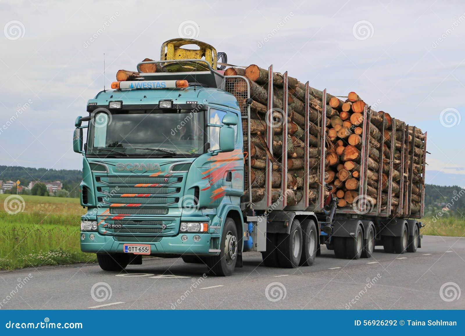 Caminhão de registro de Scania R500 com carga máxima