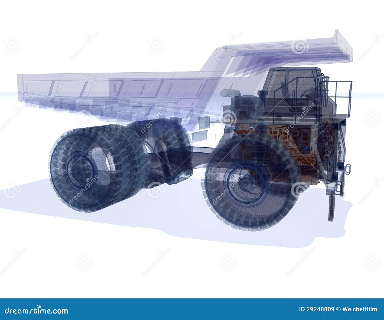 Download Caminhão de Wireframe ilustração stock. Ilustração de modalidade - 29240809
