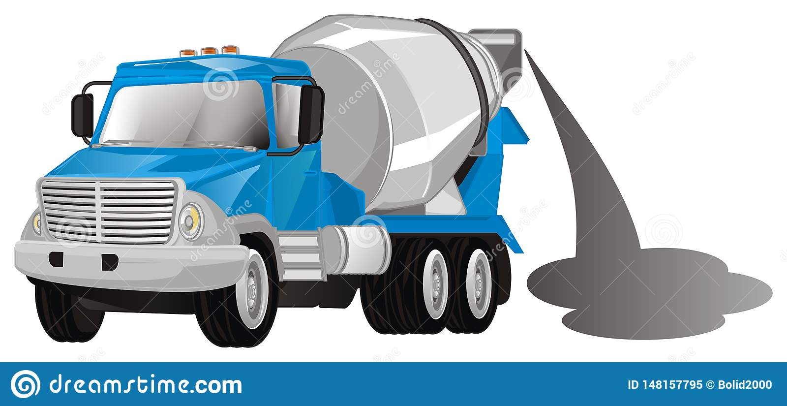 Caminhão do cimento com cimento