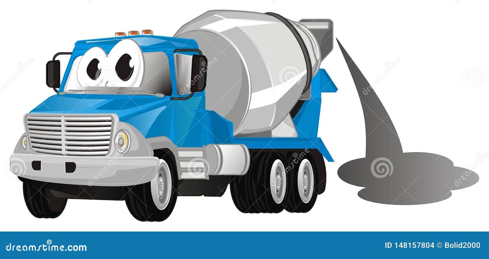 Caminhão engraçado com cimento