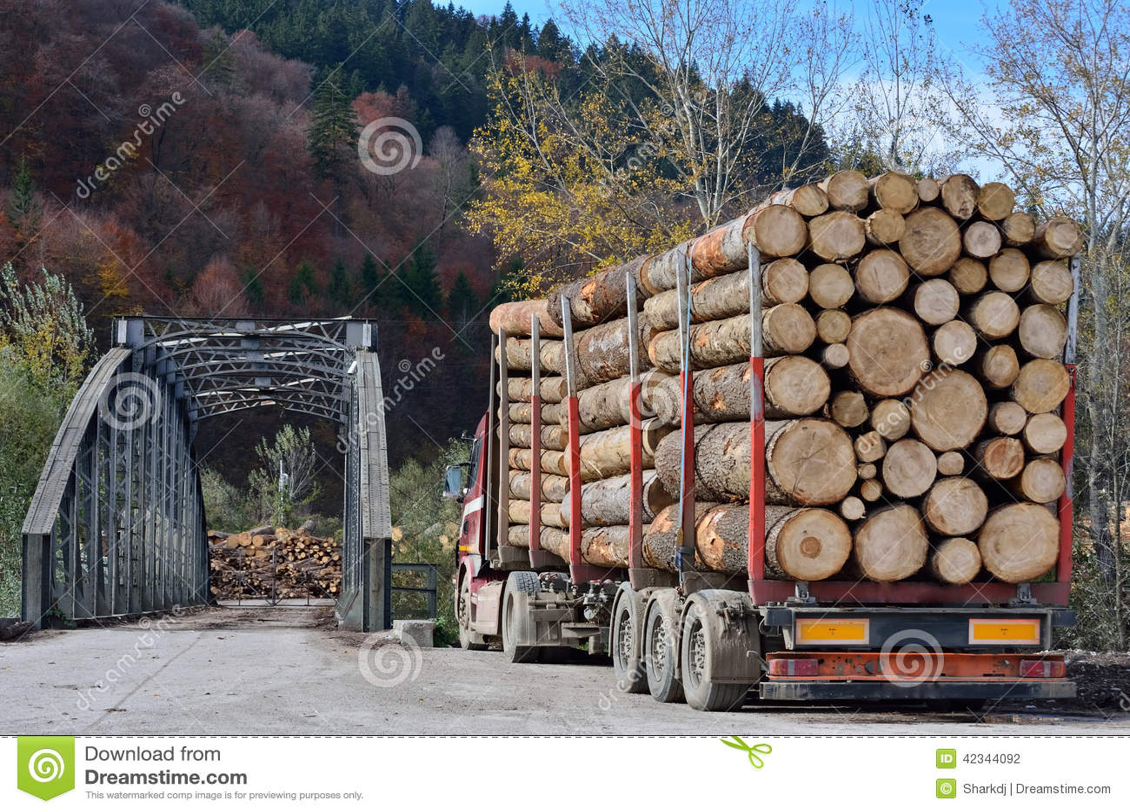 Caminhão que reboca registros